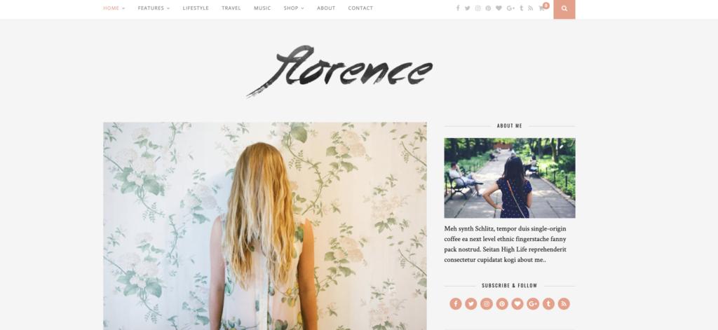 Florence WordPress tumblr theme