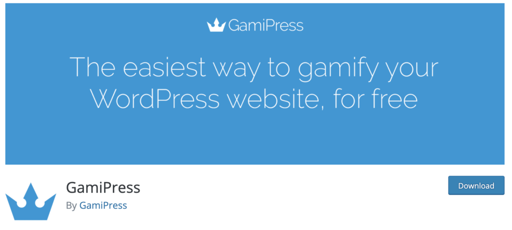 Gami Press WordPress gamification plugin