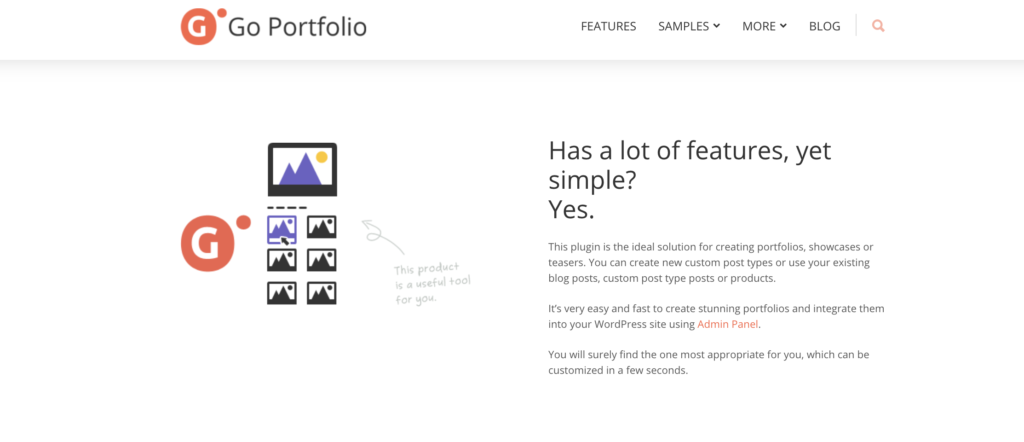Go Portfolio wordpress portfolio plugins