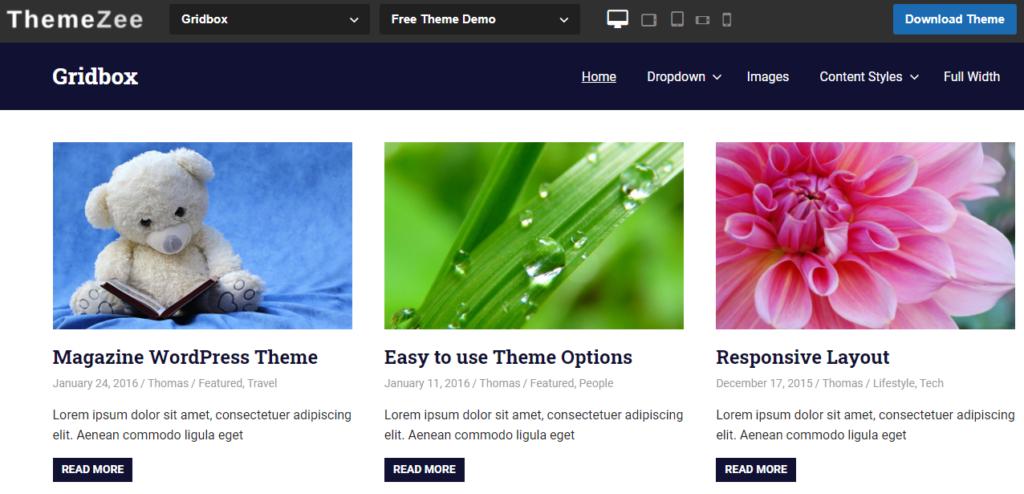 Grid Box WordPress theme