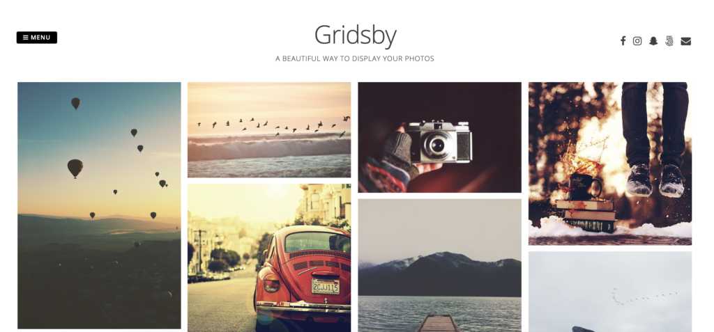 Gridsby WordPress grid theme
