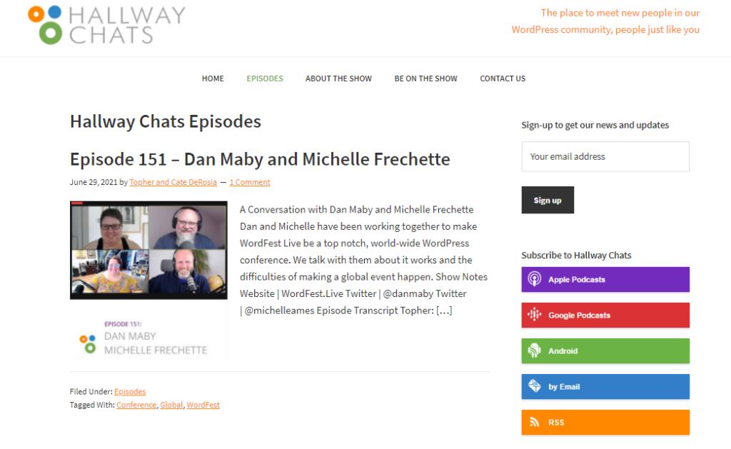 Hallway Chats WordPress podcasts