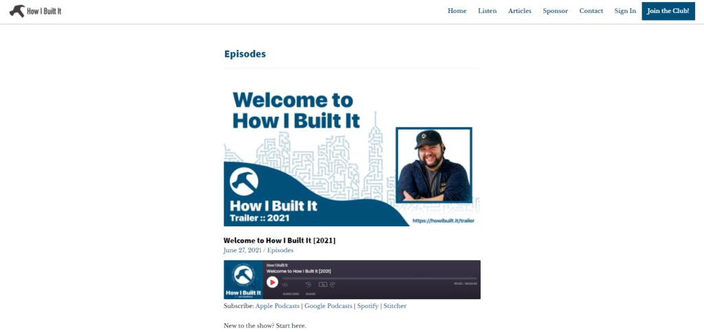 How I Built It WordPress podcast
