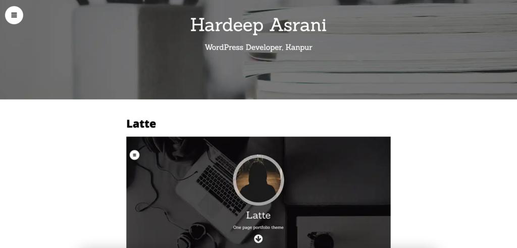 Latte mobile friendly wordpress theme