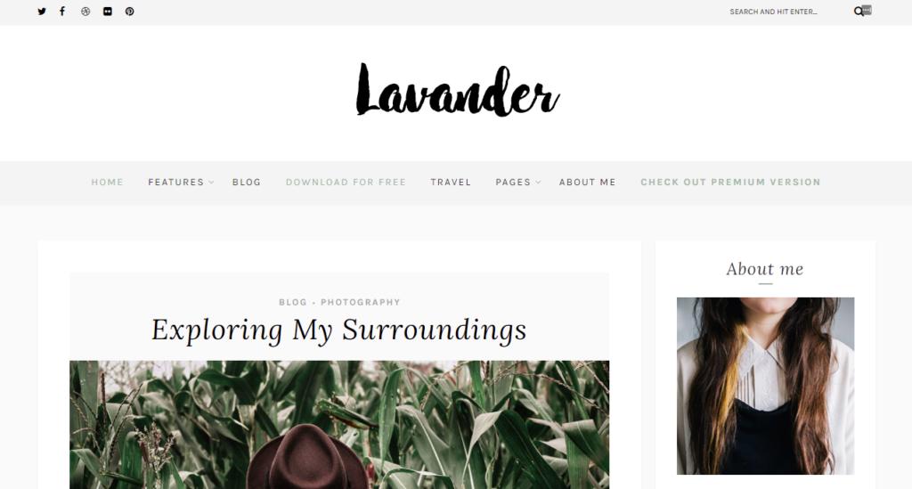 Lavender Lite mobile friendly wordpress theme