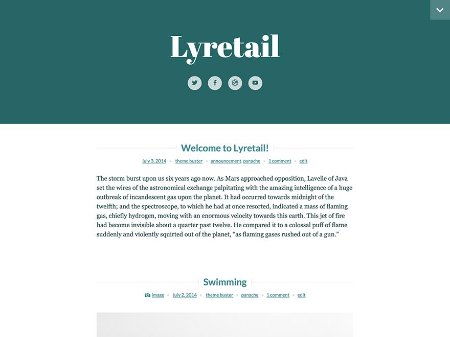 Lyretail automattic theme