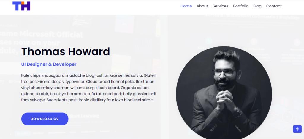 Neve WordPress resume theme
