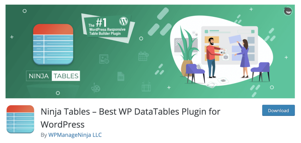 Ninja Tables WordPress table plugin