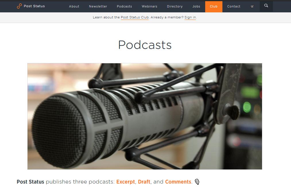 Post Status Draft WordPress podcast