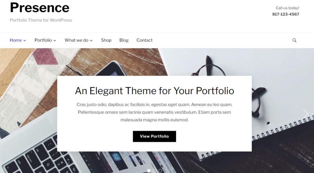 WordPress resume theme Presence