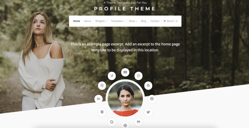 Profile Theme mobile friendly wordpress theme
