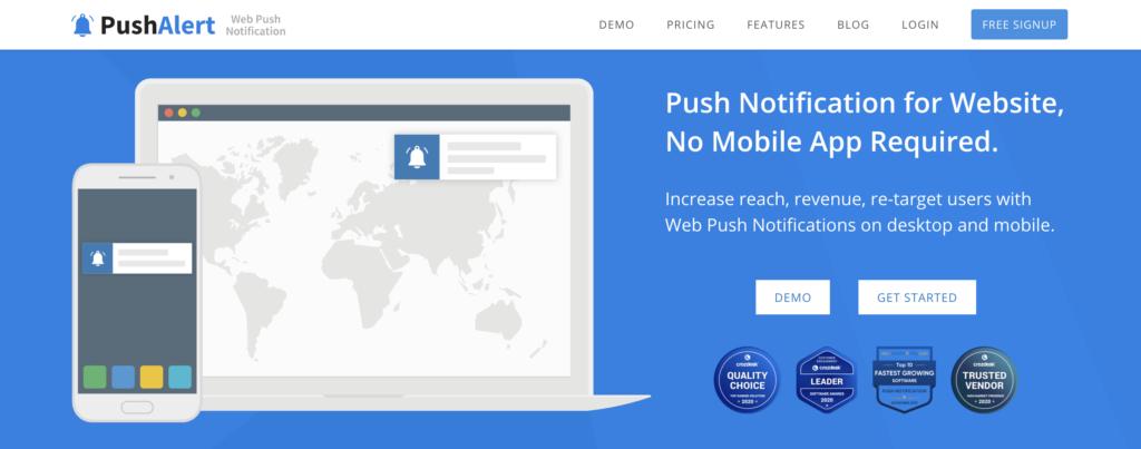 PushAlert WordPress push notification