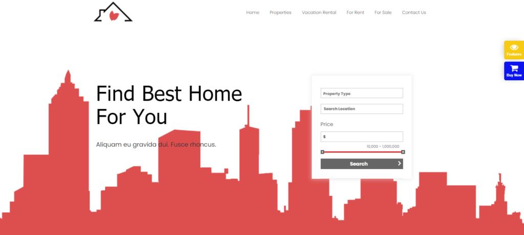 Real Estate elementor template