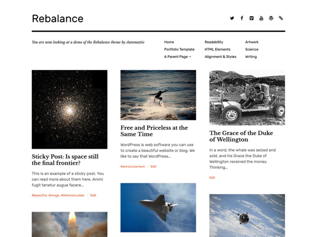 Rebalance automattic themes