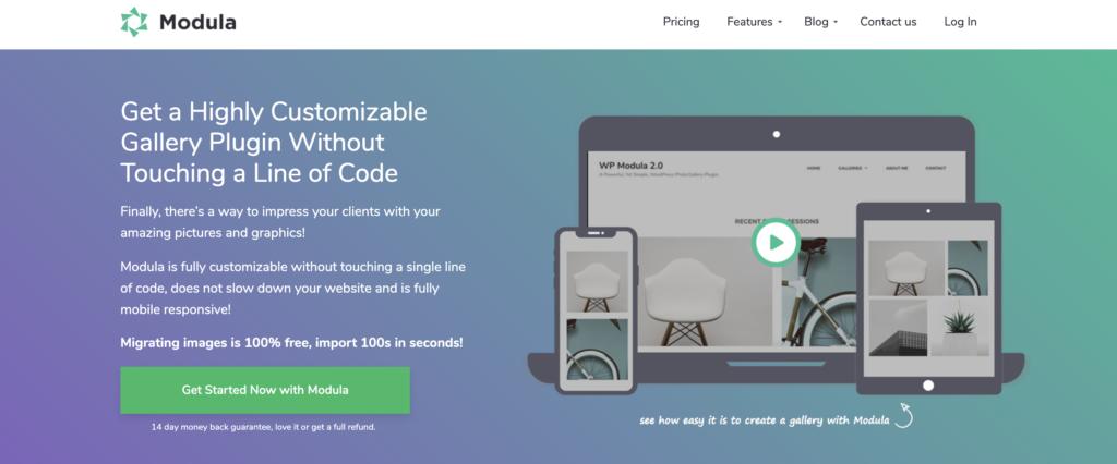 Modula wordpress portfolio plugin