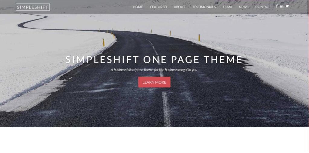 SimpleShift mobile friendly wordpress theme