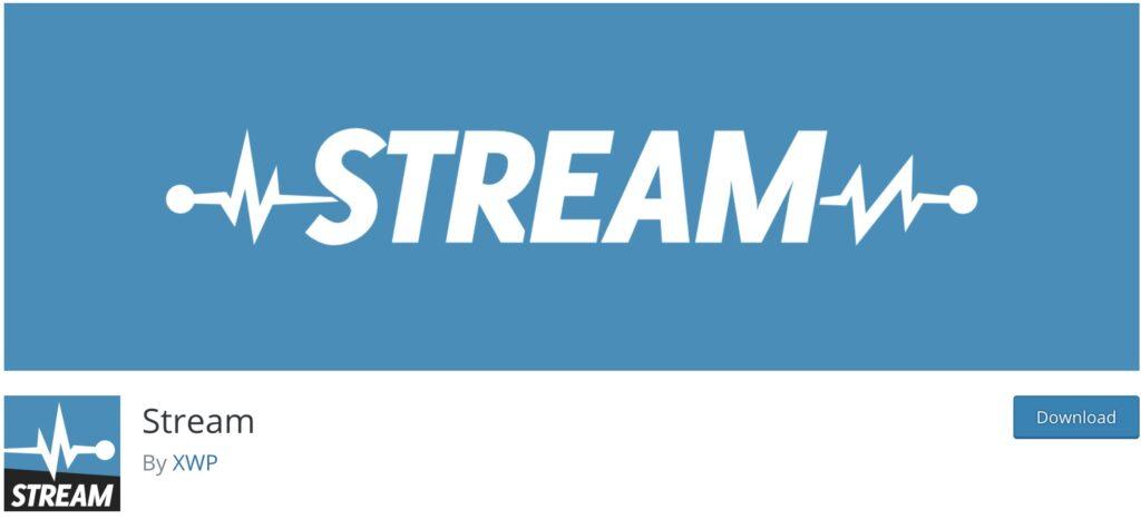 Stream WordPress activity log