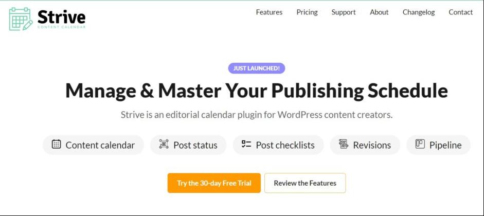 Strive Content Calendar Review