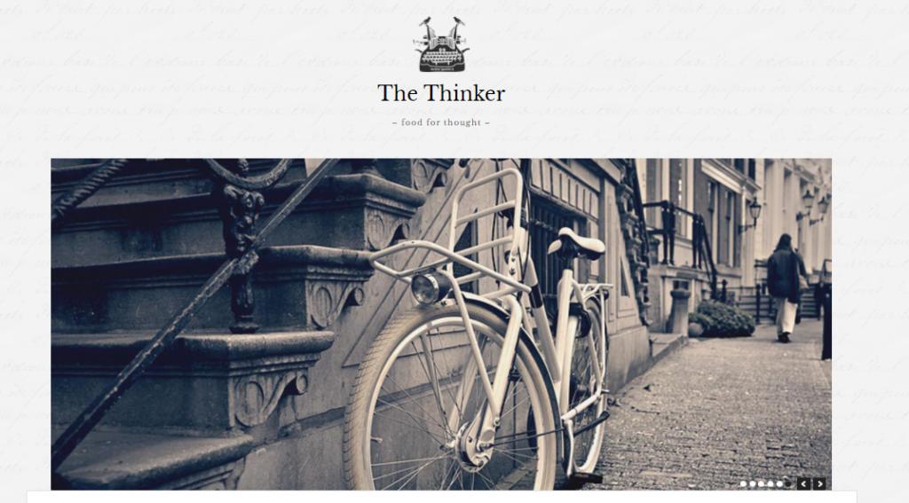 The Thinker WordPress resume theme