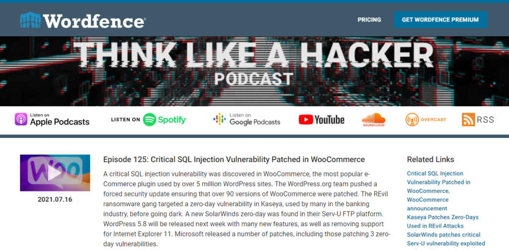Think Like A Hacker WordPress podcast
