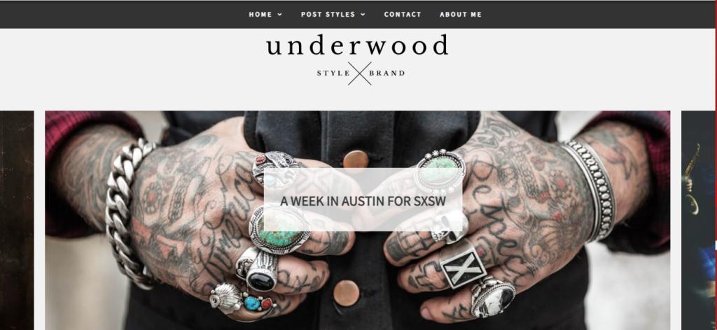 Underwood WordPress tumblr theme