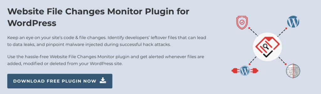 WordPress activity log - Website File Changes Monitor