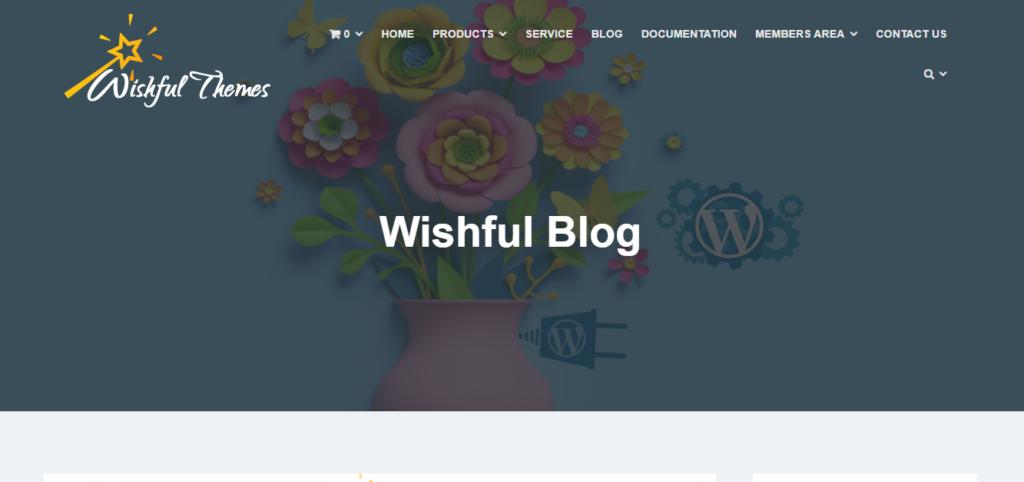 Wishful Blog WordPress grid theme