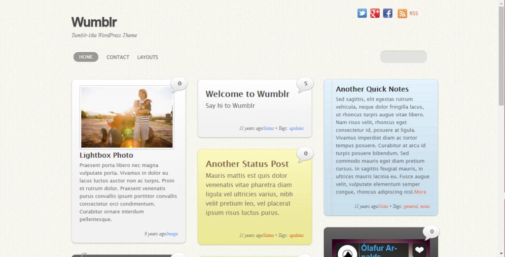 Wumblr WordPress tumblr theme