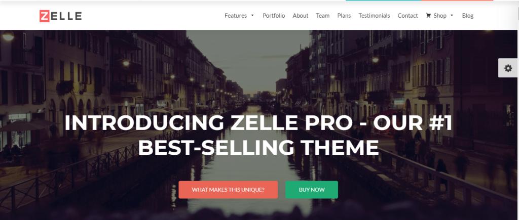 Zelle Pro wordpress fullscreen slider