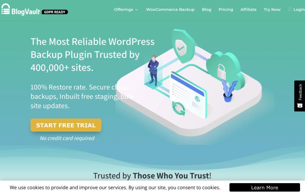 WordPress backup to Dropbox - BlogVault
