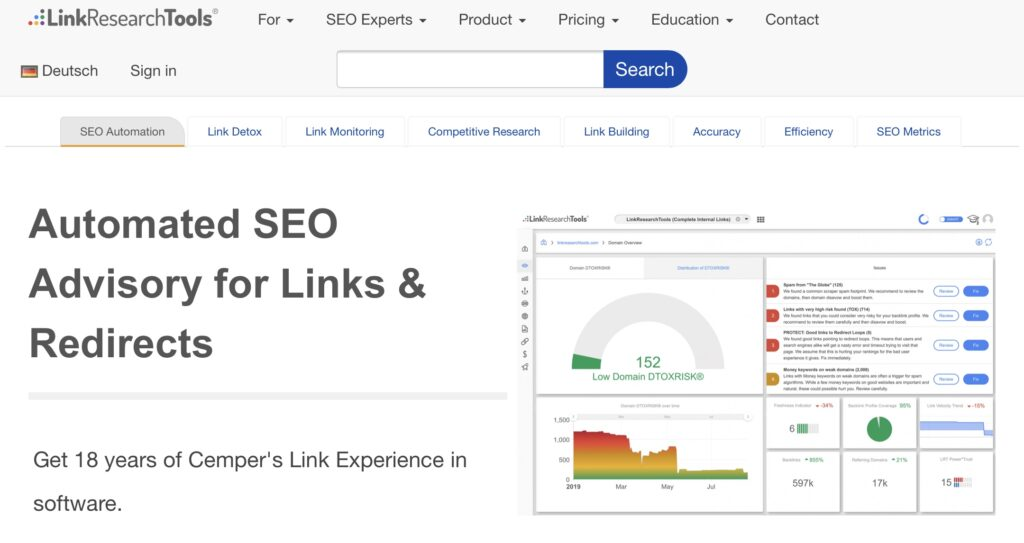 how to find broken links using Free Backlink Checker by LRT