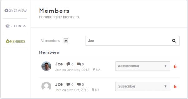 ForumEngine - members