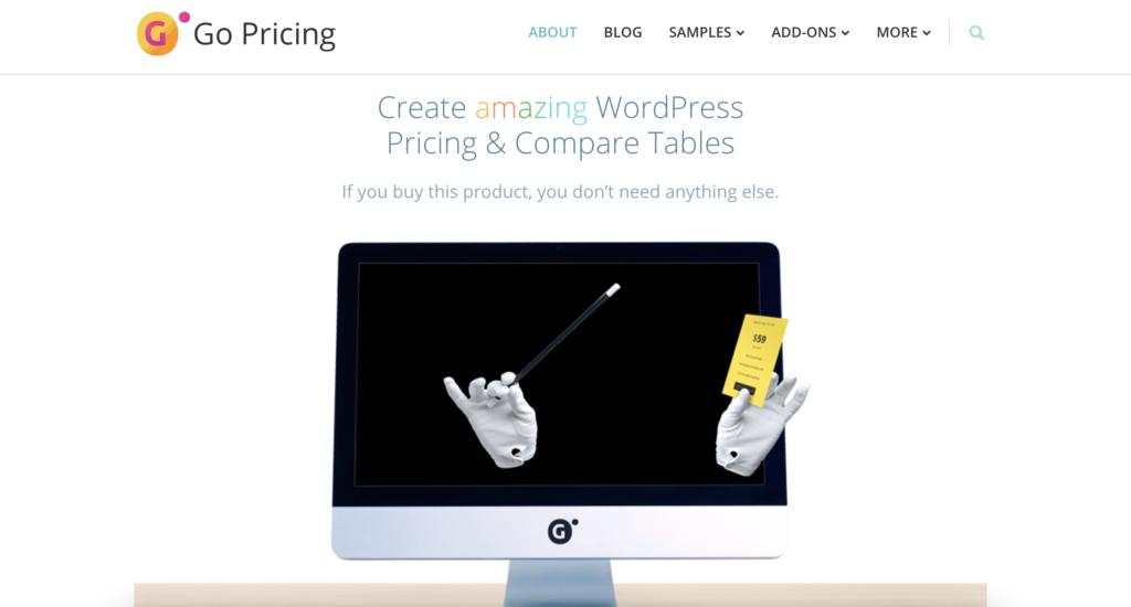 Go Pricing WordPress pricing table plugin