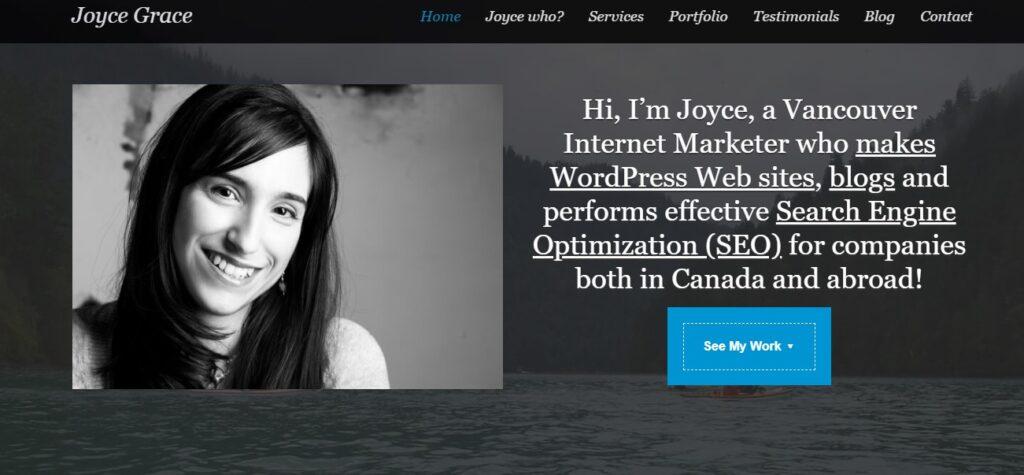 top wordpress blogs to read - Joyce Grace