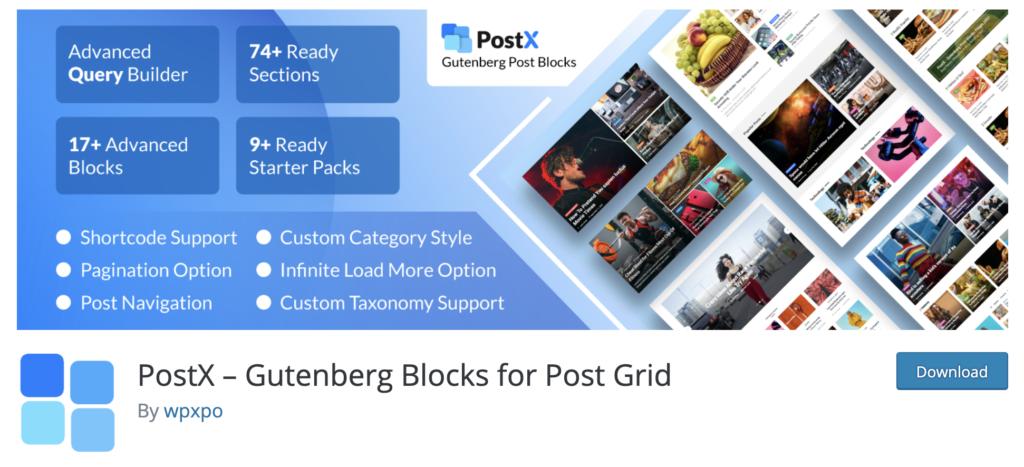 PostX WordPress popular posts plugin