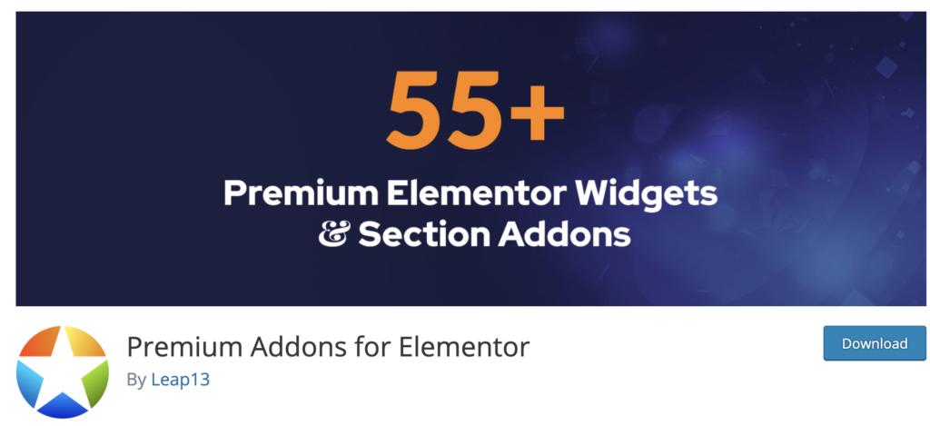 Premium Addons for Elementor WordPress pricing table plugin
