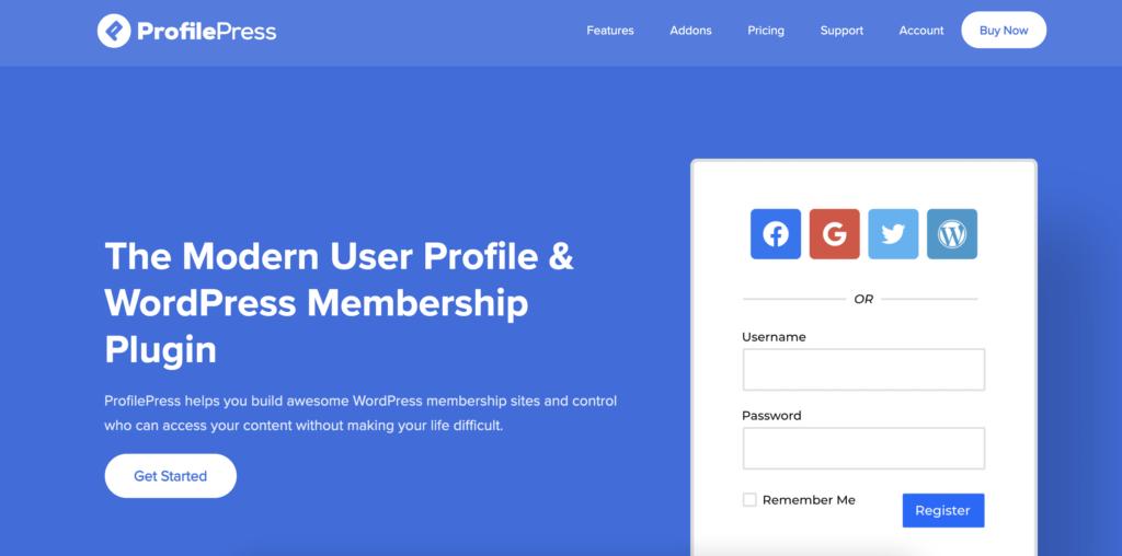 ProfilePress WordPress registration plugin