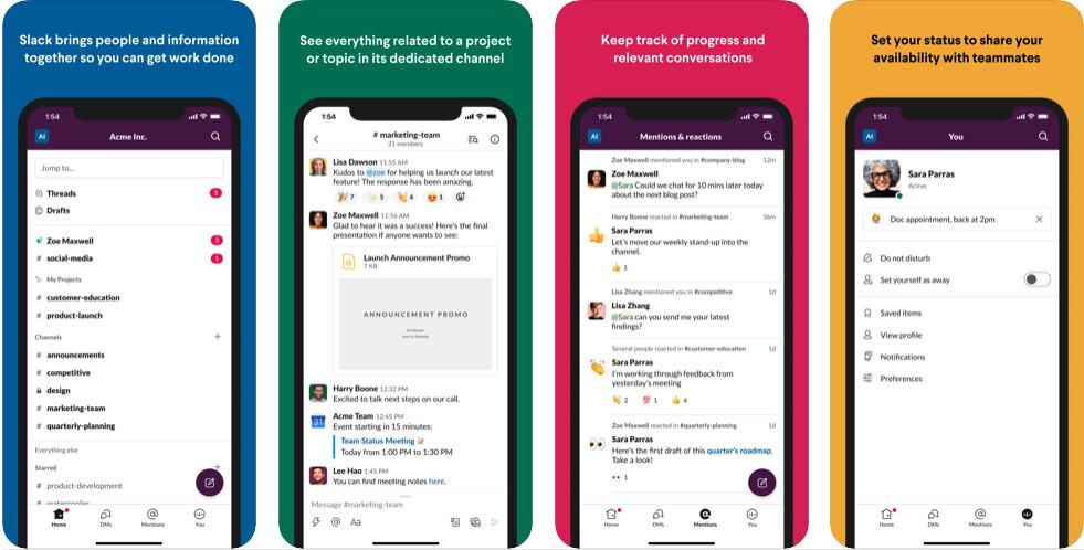 Slack blogger app for android