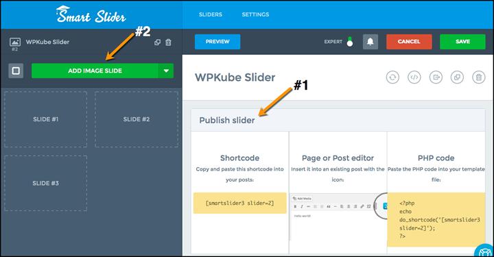 Smart slider - creating slides