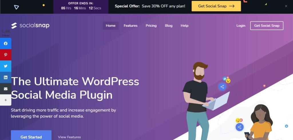 Social Snap WordPress social sharing plugin