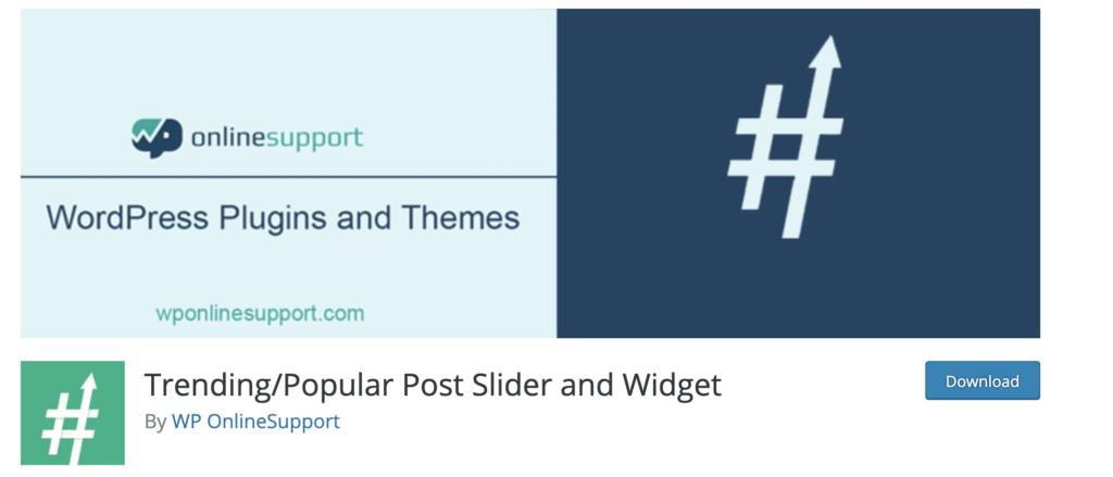 Trending/Popular Post Slider and Widget WordPress popular posts