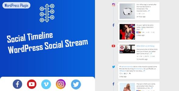 Social Timeline.WordPress twitter plugins