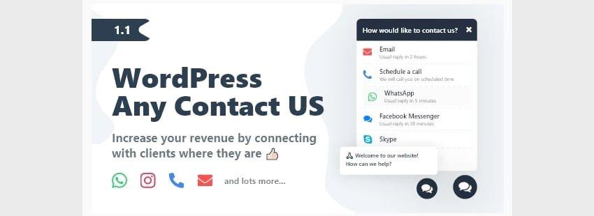 WordPress Any Contact Us WordPress twitter plugins