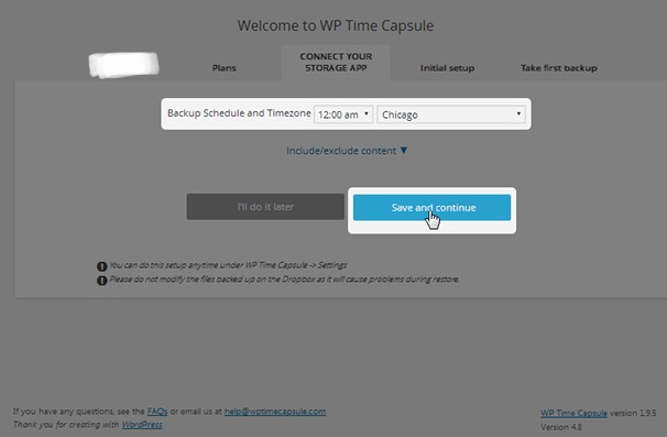 WP Time Capsule - set time and city