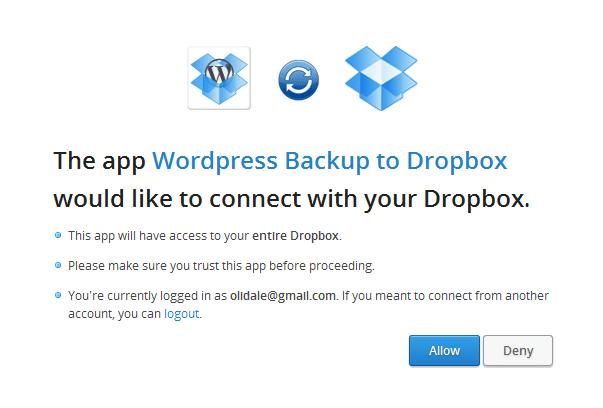 WPB2D - allow dropbox