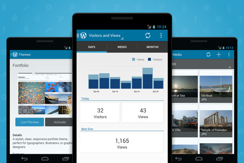WordPress blogger app for android