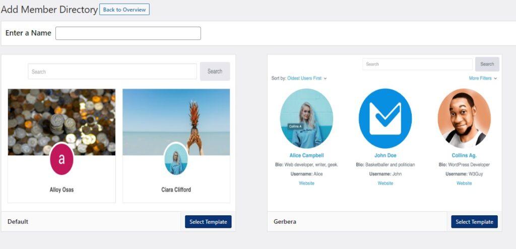 ProfilePress - Adding Member Directories
