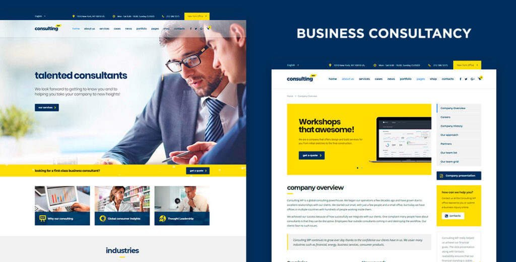 Consulting WP Business WordPress Theme Review and Setup (2021)