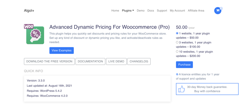 Advance Dynamic Pricing WooCommerce wholesale plugin