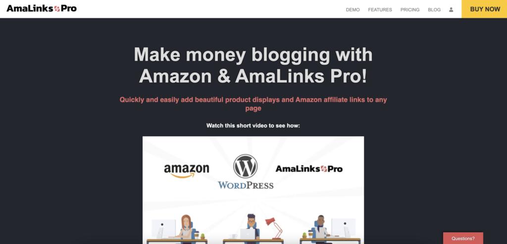 AmaLinks Pro Amazon Affiliate wordpress plugin